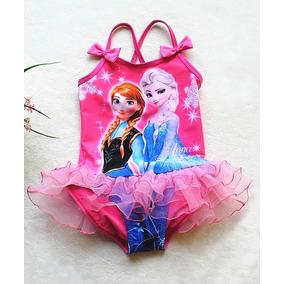 Bikini Traje De Baño Frozen Anna Y Elsa Niña Primaver Verano