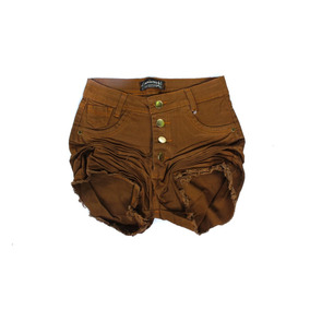 Short Jeans Feminino Plus Size Colorido 44 Ao 54 Hot Pants