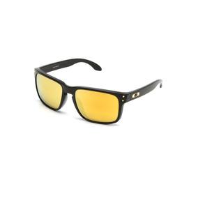 98535dede2633 Óculos De Sol Oakley Holbrook Lente Amarela  1