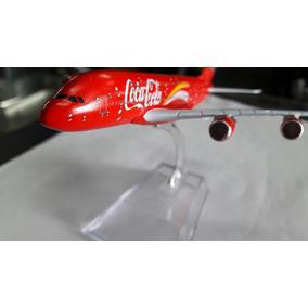 Avião Miniatura Metal Coca Cola Airbus 380
