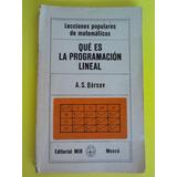 Libro Ruso Sobre Que Es La Programacion Lineal