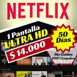 Cuentes De Netflix Premiu Ultra 1pantalla 4k 50dias