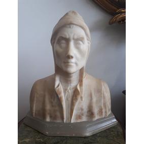 Escultura Em Marmóre Dante Alighieri