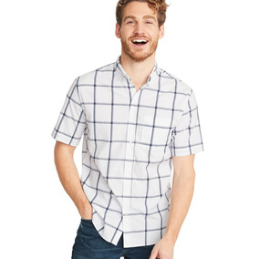 Camisa Hombre Casual Manga Corta Slim Fit 392381 Old Navy