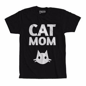 Camiseta Camisa Cat Mom Gatos Gatinhos Roupas Femininas