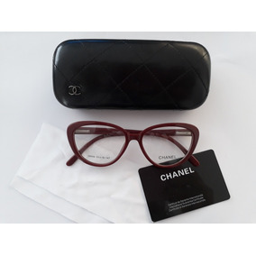 a82063520 Armacao Oculos Feminino Gatinho Chanel - Óculos Bordô no Mercado ...