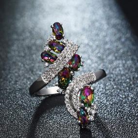 Anel Pedra Da Lua Rainbow - Joias e Relógios no Mercado Livre Brasil b77702825a