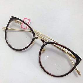 5d5af9eea11ed Armacao De Oculos Retangular - Óculos Marrom no Mercado Livre Brasil
