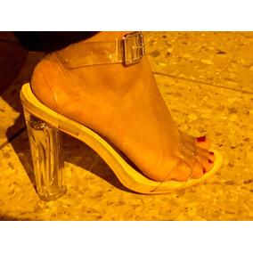 Sandalias Transparentes Moda 2018