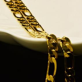 Corrente Cordão Masculino 5mm E 60cm Banhada A Ouro18k