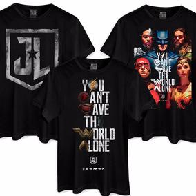 Kit Com 3 Camisetas Liga Da Justiça Oficial