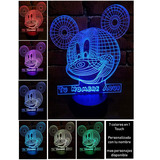 Lampara Led 3d Rgb Acrilico Mickey Mouse Y Mas Personalizada