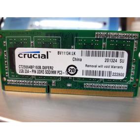Memoria Ram Ddr3 1600 Mhz 2gb Para Laptop Crucial Nuevas