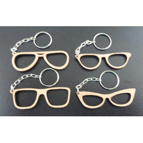 a243175acf155 Kit 150 Chaveiros Óculos Vazado Mdf Cru Personalizados 06 Cm