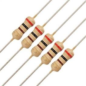 Resistor 1k 1/4w 5% - 100pçs