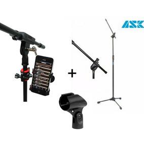 Kit Suporte Celular P Pedestal+pedestal Microfone+ Cachimbo