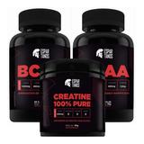 Kit Hipertrofia - 2x Bcaa + Creatina - Espartanos Nutrition