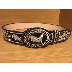 Cinturon Bordado Charro - Vaquero Tipo Pita 100% Cuero