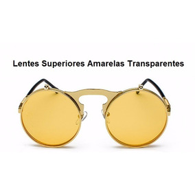 a3c1206701ea5 Lentes De Sol Redondo Circular Vintage Doble High Quality