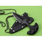 Cuchillo Collar Mini Tactico Defensa Personal Manopla