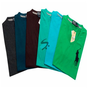 Kit 10 Camiseta Camisa Masculina De Marca Gola V Imperdivel!