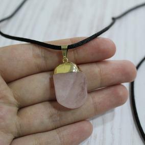 Pingente De Pedra Preciosa - Quartzo Rosa
