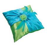 Lillian Almohada De Anillo Bodas Lujo Rosa Azul Verde