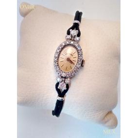 Reloj Hamilton Oro Blanco 14k Diamantes De Cuerda Vintage