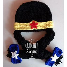 Gorro Mujer Maravilla Bebés Wonder Woman Crochet