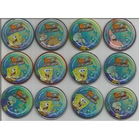 Lote Com 10 Tazos Da Coleção Elma Chips Titanium Bob Esponja