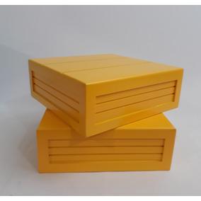 02 Caixa Elevacao P ( Bandeja ) 20 X 20 X 07 Com Pintura