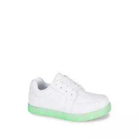 Escolar Sneaker Low Top Niño Blanco 2515304 Con Luz