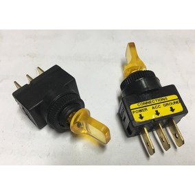 Switch Interruptor On-off Amarillo 3pin 20a 12v Sw-sw110y