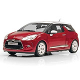 2010 Citroen Ds3 Sanguine Red With White Roof 1/18 By Norev