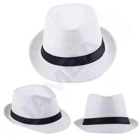 434951ae1fceb Chapeu Fedora Branco Tipo Panama Chapeus - Acessórios da Moda no ...