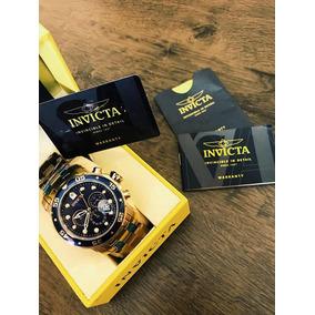 Relogia Invicta Pro Drive 0073, Original - Ouro 18k