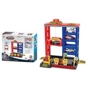 Garage Grande Estacion Accesorios 4 Niveles + 3 Autos