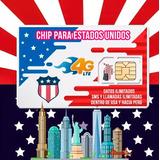 Chip Sim Card Estados Unidos Usa Internet Minutos Ilimitados