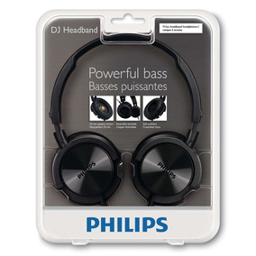 Headphone Philips Headband Dj Preto - Não Ofertar