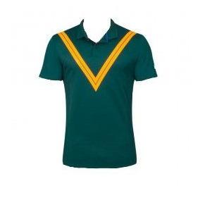 ff36df4a34 Camiseta Polo Nike Court Roger Federer Adv. Verde E Amarela