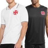 Kit Vasco Camisa Polo + Camiseta Regata Machão Oficial + Nf 1de5722130a36