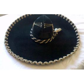 Sombrero Mexicano Negro - Indumentaria Antigua Antiguos en Mercado ... 38213858e54