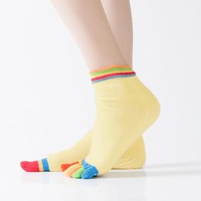 Calcetas Cinco Dedos Antideslizantes Para Yoga Hengju Envio