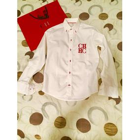 Camisa Carolina Herrera Ch Logos Ch Grande