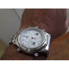 08b45a85f16 Relogio Suiço Dryzun Alarme cronometro Semi-novo No Estojo