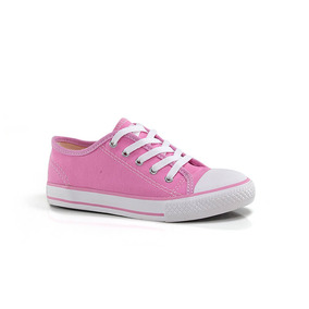 Tênis Diversão Canvas Low Rosa - Infantil - Way Tenis