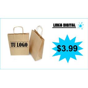 6106224cd Bolsa Papel Kraft Impresas Personalizadas Publicidad !