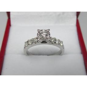 Anillo Compromiso 14k Diamantes Naturales .50 Puntos G Vs1