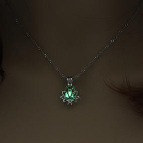 Collar Flor De Loto Brillante Pureza Espiritual Envío Gratis