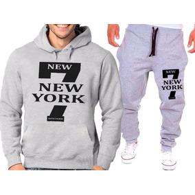 Kit Calça + Blusa Moletom 7 New York Conjunto